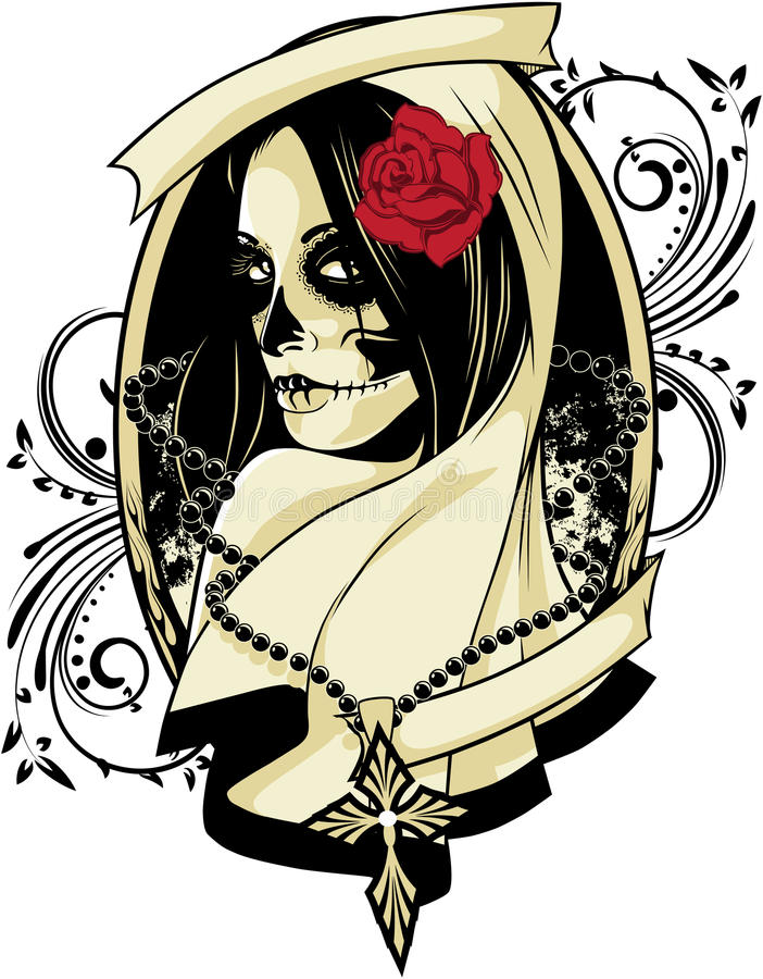 La Calavera Catrina vector illustration