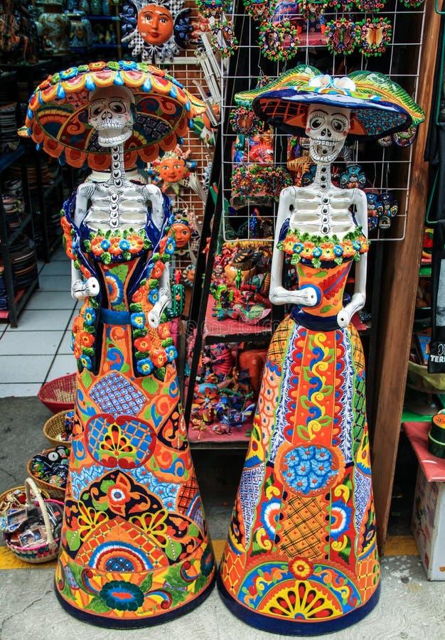 La Calavera Catrina, Mexico royaltyfri fotografi