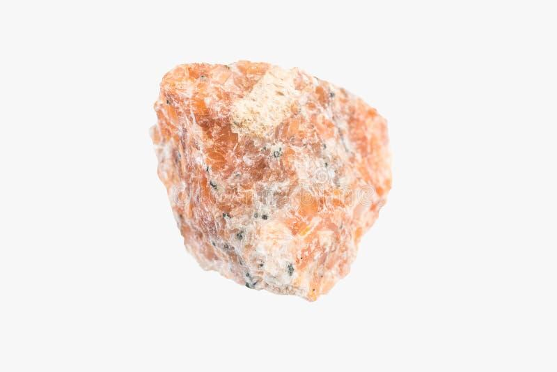 La calcite minerale cruda naturale dal Brasile ha isolato Macro fucilazione immagini stock libere da diritti
