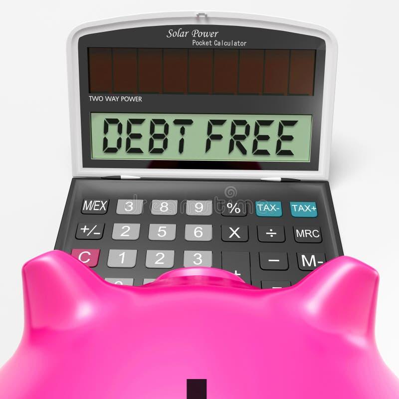 La calculadora libre de la deuda no significa ningunas responsabilidades o deuda stock de ilustración