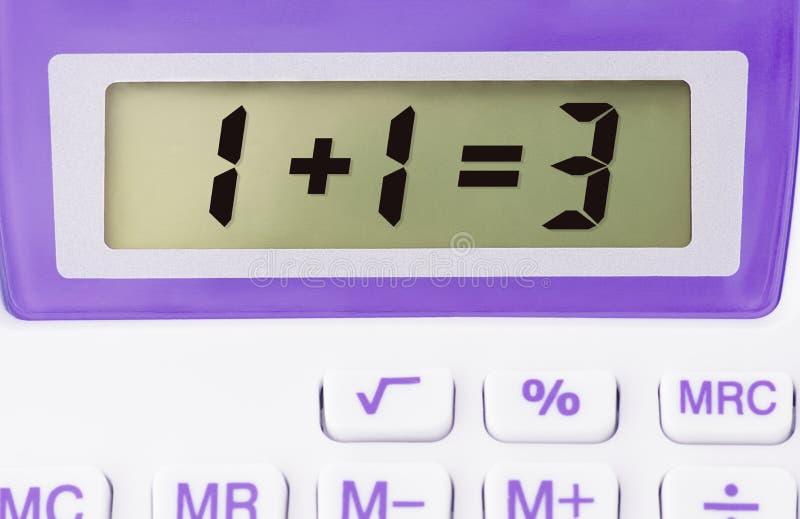 La calculatrice électronique folle, le calcul est erronée photo libre de droits