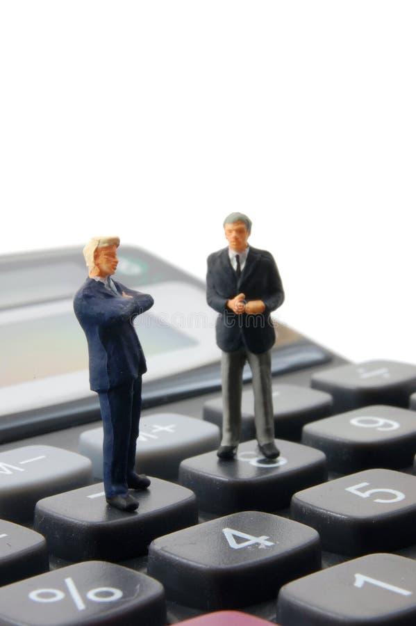 Download La Calculatrice D'affaires A Isolé Des Gens Photo stock - Image du argument, personne: 8650430