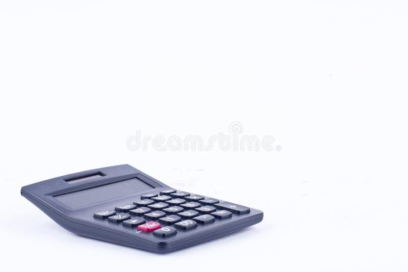 La calculatrice pour calculer la comptabilité de comptabilité de nombres financent l'anticipation commerciale sur le fond blanc d photos libres de droits