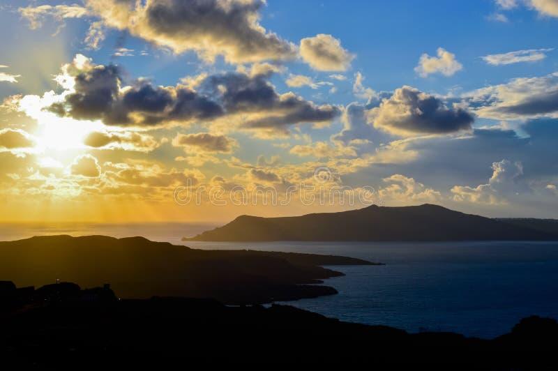 La caldera di Santorini a fotografie stock libere da diritti