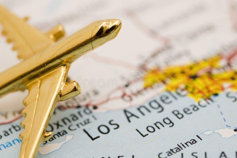 la california над плоскостью стоковая фотография