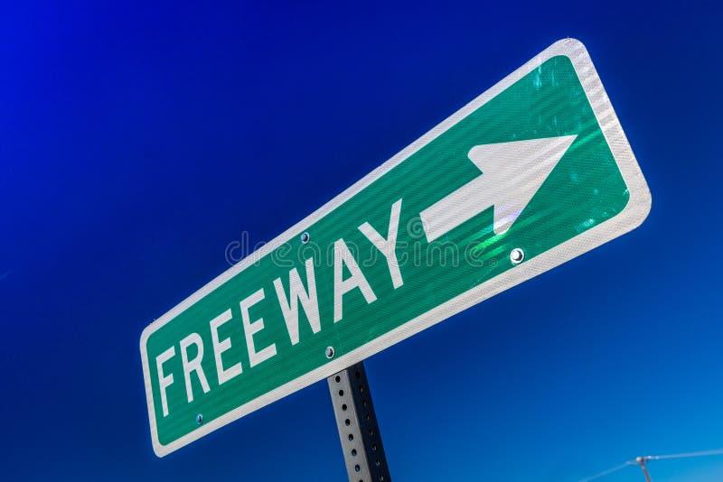 La CALIFORNIE DU SUD - le signe vert d'autoroute indique l'entrée photos stock