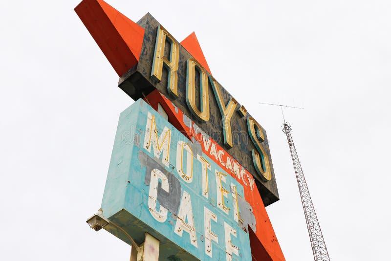 La Californie, le signe de motel du ` s de Roy photos stock