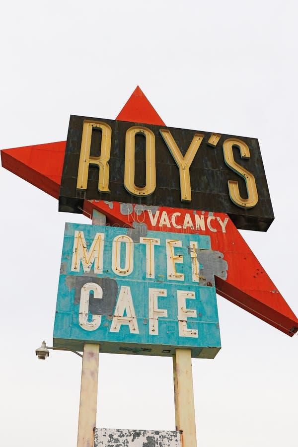 La Californie, le signe de motel du ` s de Roy images libres de droits