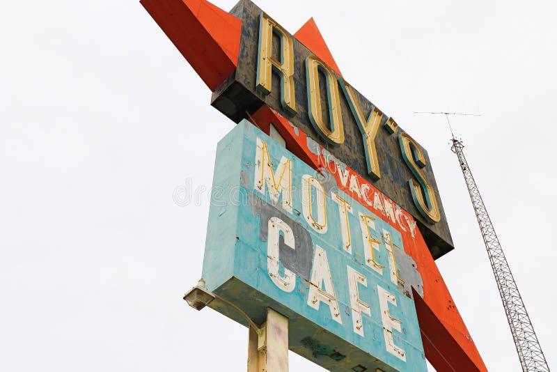 La Californie, le signe de motel du ` s de Roy photo stock