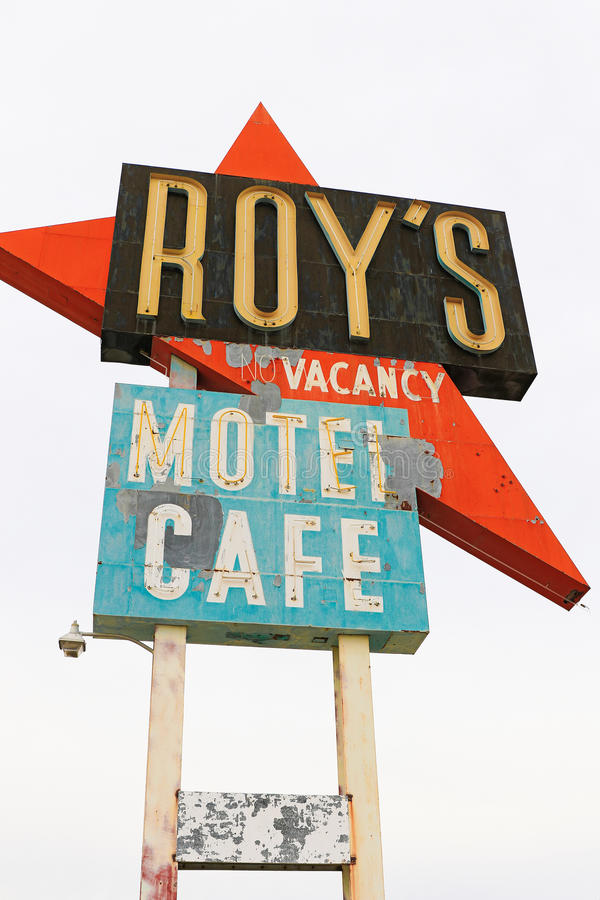La Californie, le signe de motel du ` s de Roy photos libres de droits