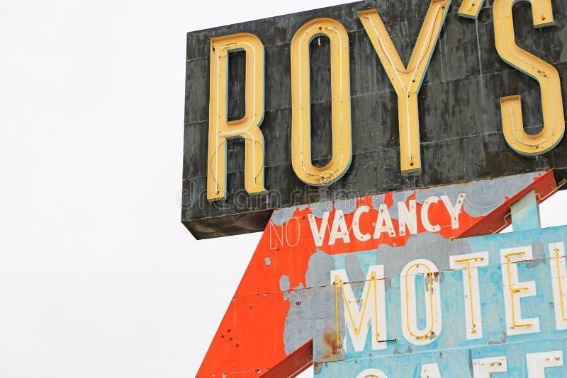La Californie, le signe de motel du ` s de Roy images stock