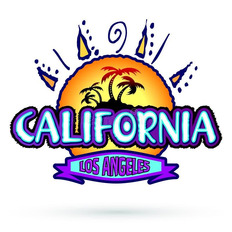La Californie Los Angeles, conception d'emblème d'insigne de vecteur illustration de vecteur