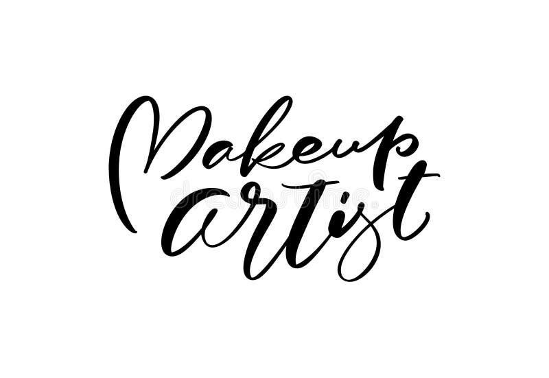 La caligrafía que pone letras al texto compone la educación plana del peluquero del logotipo del ejemplo del vector del diseño mo libre illustration