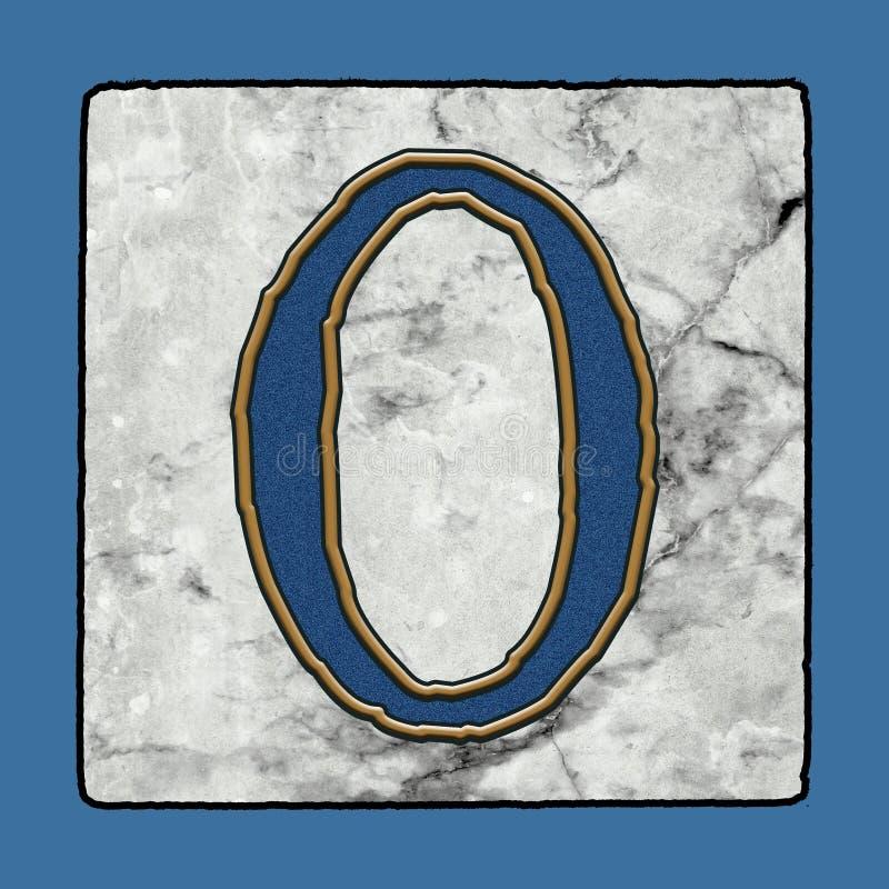 La calle clásica icónica histórica de New Orleans teja números y símbolos del Grunge del alfabeto de la letra de la acera stock de ilustración