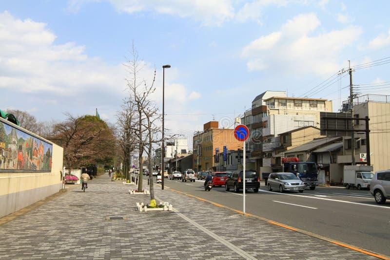 la calle de Kyoto en Japón en 2010 foto de archivo