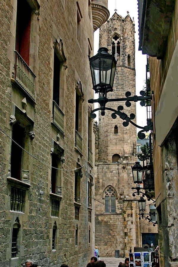 La calle de la ciudad vieja foto de archivo