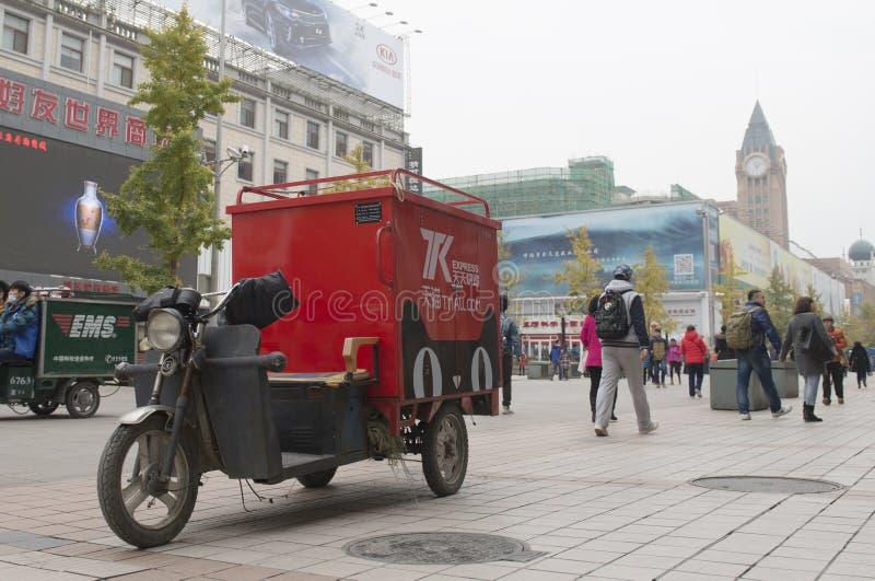 La calle de Wangfujing en nov Festival que hace compras 11 en China fotos de archivo