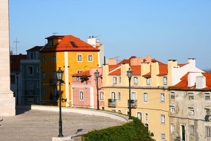La calle en Lisboa, imagenes de archivo