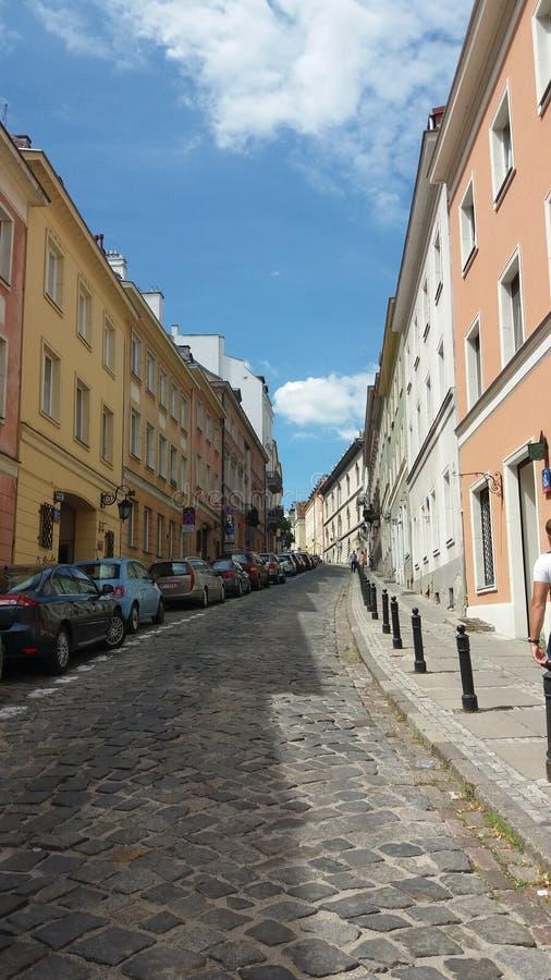 La calle en Varsovia foto de archivo libre de regalías