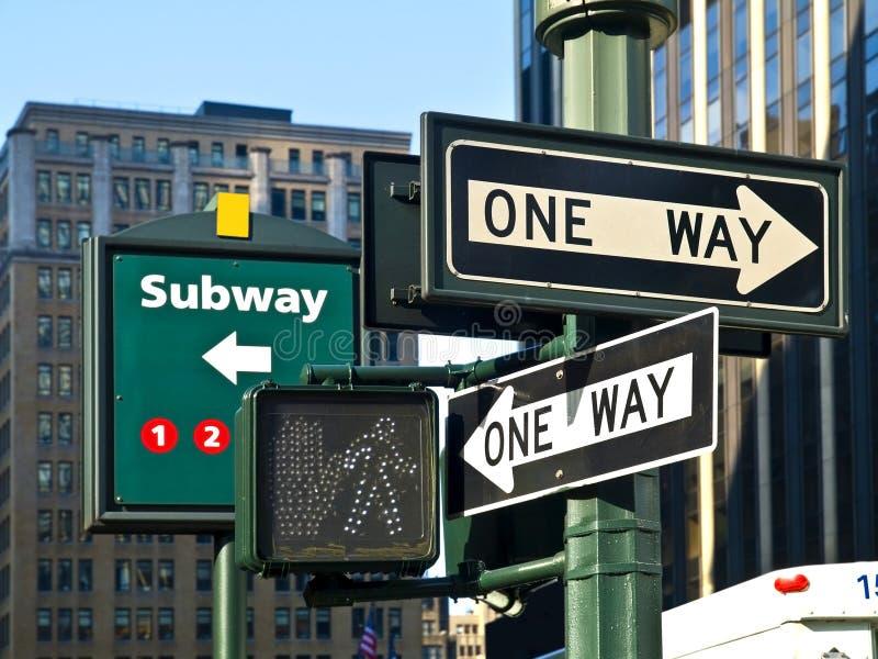 La calle firma adentro Manhattan foto de archivo libre de regalías
