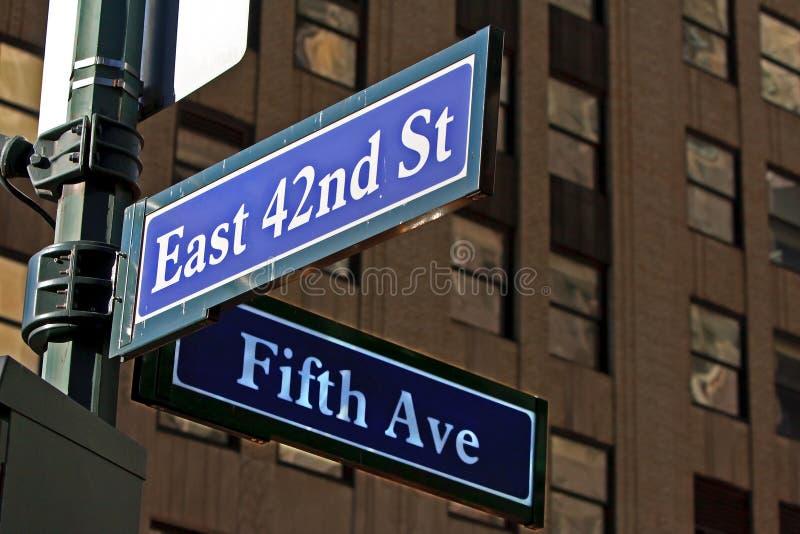 La calle firma adentro NYC fotos de archivo