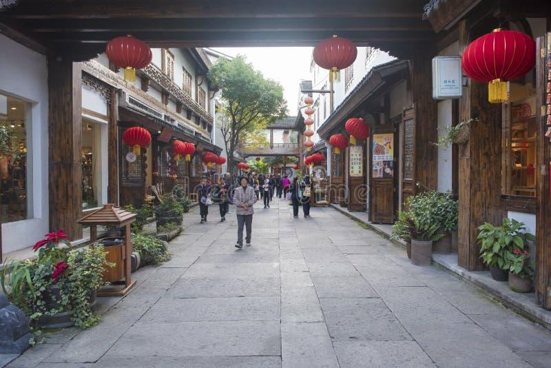 La calle vieja del mar de bambú nanshan en la ciudad de liyang, provincia de Jiangsu foto de archivo libre de regalías