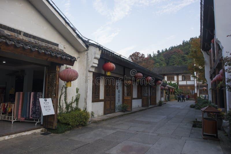 La calle vieja del mar de bambú nanshan en la ciudad de liyang, provincia de Jiangsu fotografía de archivo