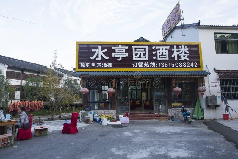 La calle vieja del mar de bambú nanshan en la ciudad de liyang, provincia de Jiangsu fotografía de archivo libre de regalías