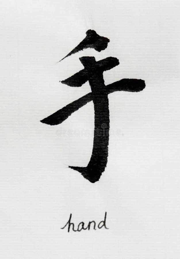 La calligrafia cinese significa il ` della mano del ` per Tatoo royalty illustrazione gratis