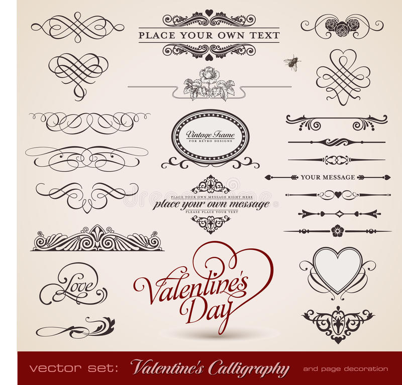 La calligraphie de Valentine