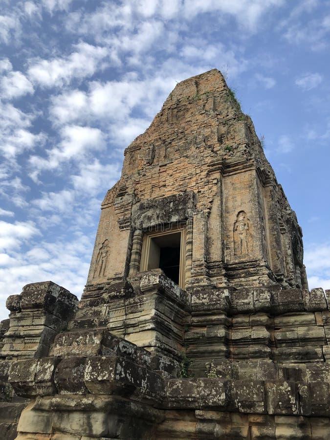 La Cambogia, grande Angkor Wat, pietra del rokc del tempio ha fatto immagini stock