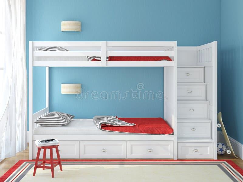 La camera da letto dei bambini illustrazione di stock