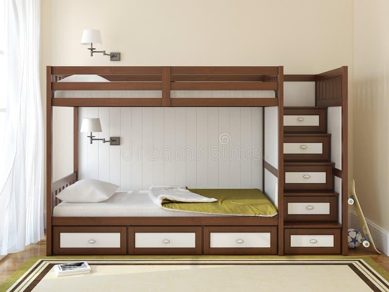 La camera da letto dei bambini illustrazione di stock illustrazione di decorazione legno - Camera letto bambini ...