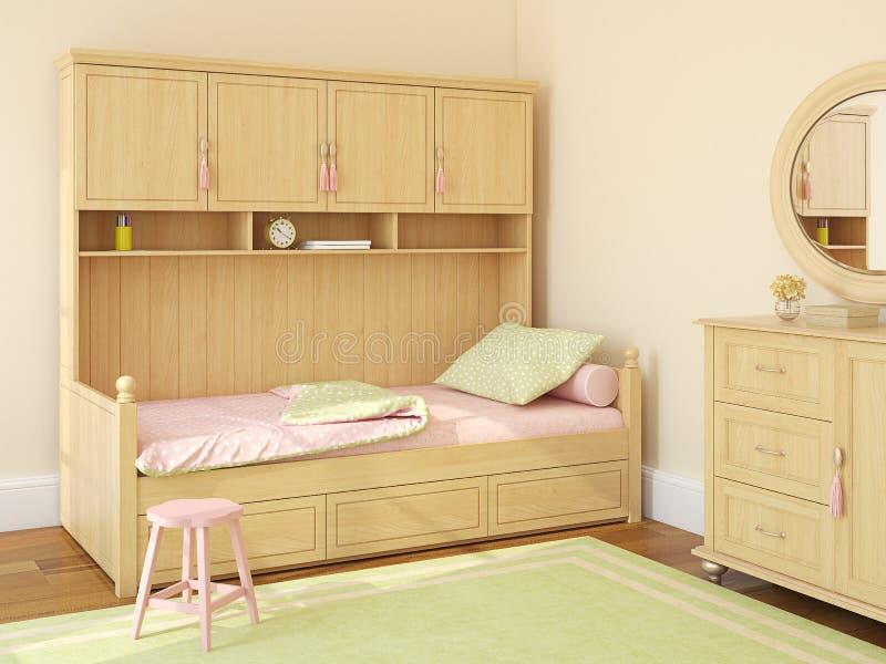La camera da letto dei bambini illustrazione vettoriale
