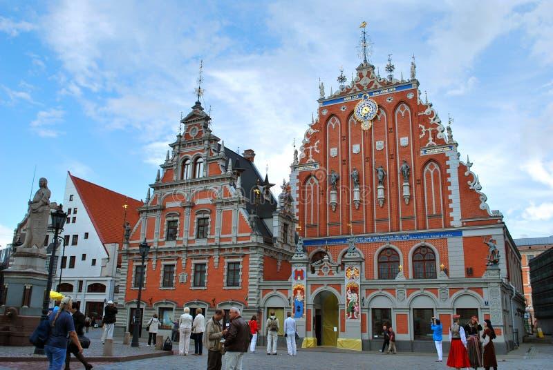 La Camera dei comedoni nel centro storico di Riga immagine stock libera da diritti