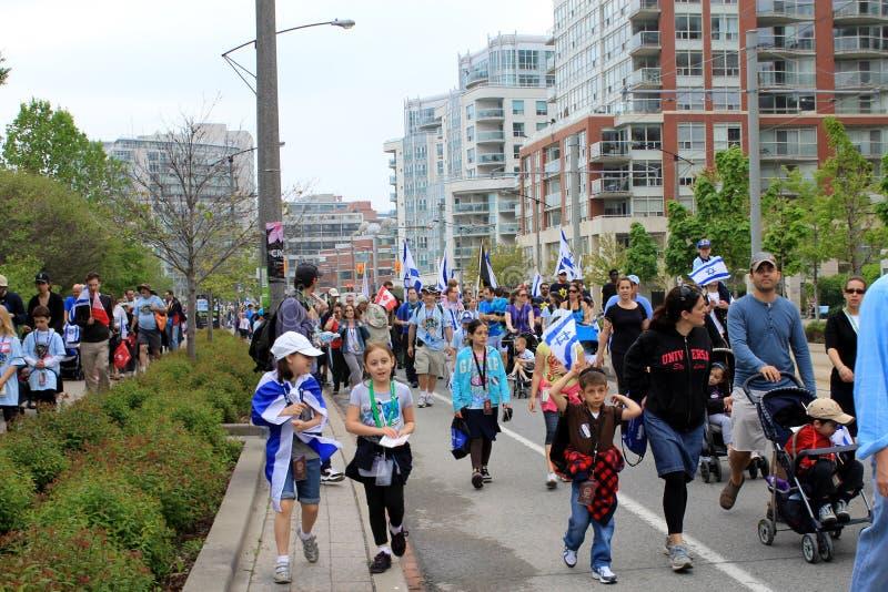 La caminata anual del pantano con Israel en Toronto imagen de archivo