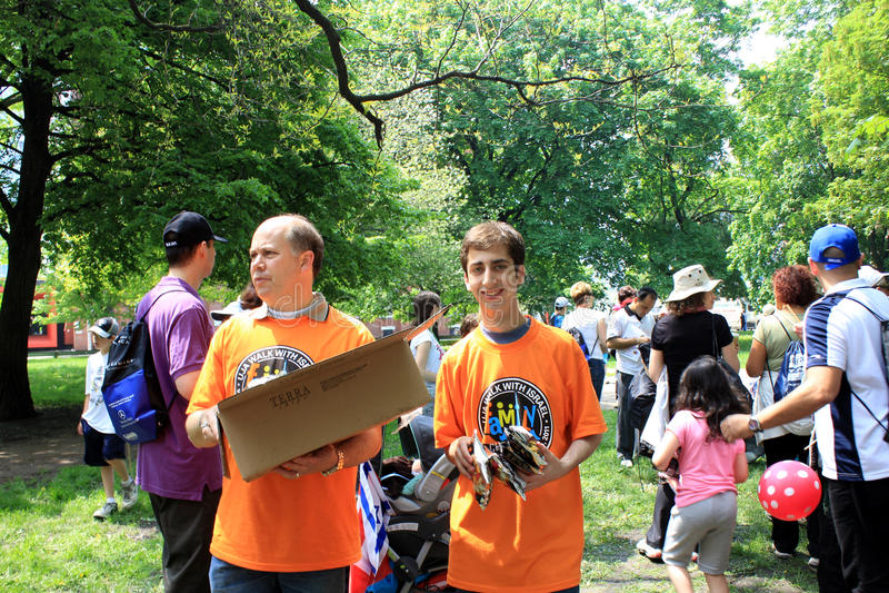 La caminata anual del pantano con Israel en Toronto imagen de archivo libre de regalías