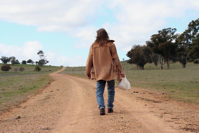 La caminata larga fotografía de archivo