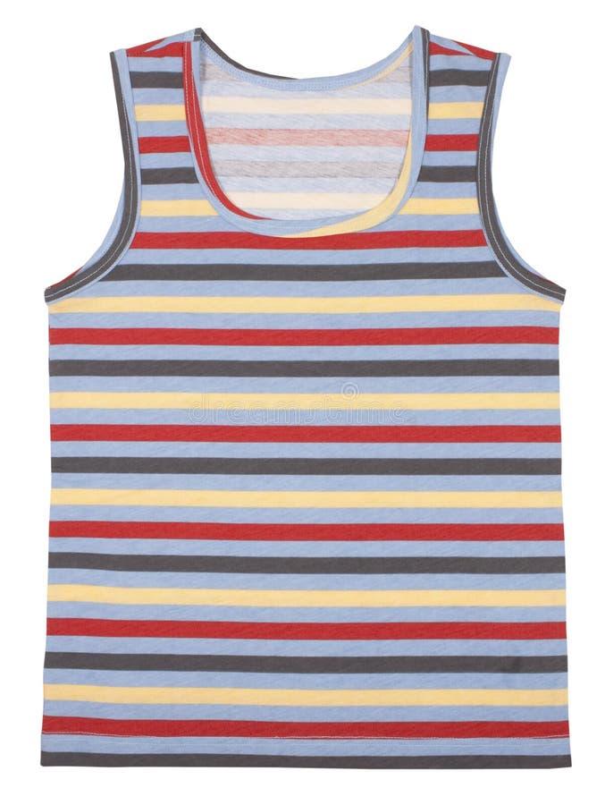 La camisa de los niños sin mangas aislada en blanco imágenes de archivo libres de regalías