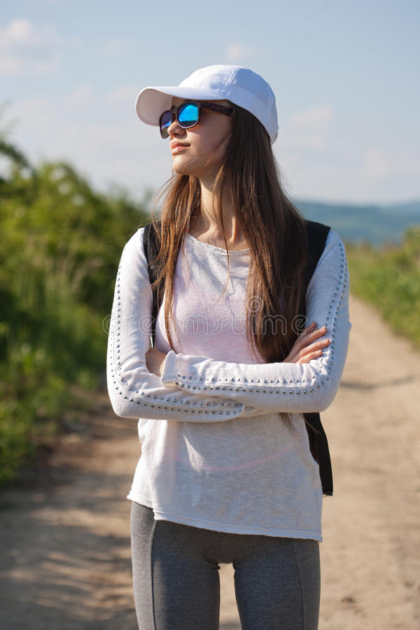 La camminata è l'esercizio più naturale fotografie stock