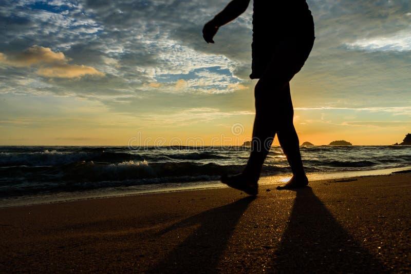 La camminata da solo fotografia stock libera da diritti