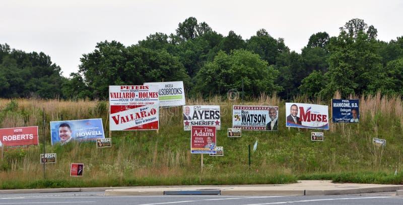 La campaña electoral de elecciones primarias firma Carolina del Norte fotografía de archivo libre de regalías