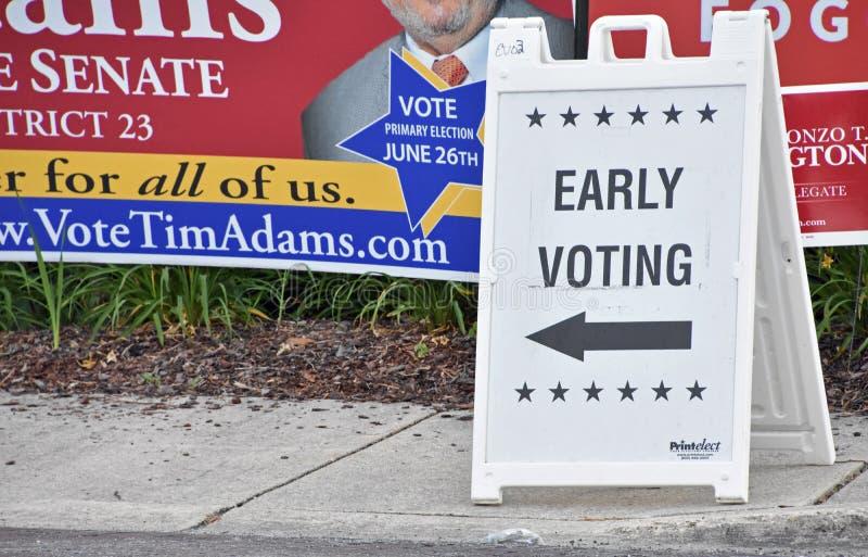 La campagna elettorale di elezioni primarie firma Maryland fotografia stock libera da diritti