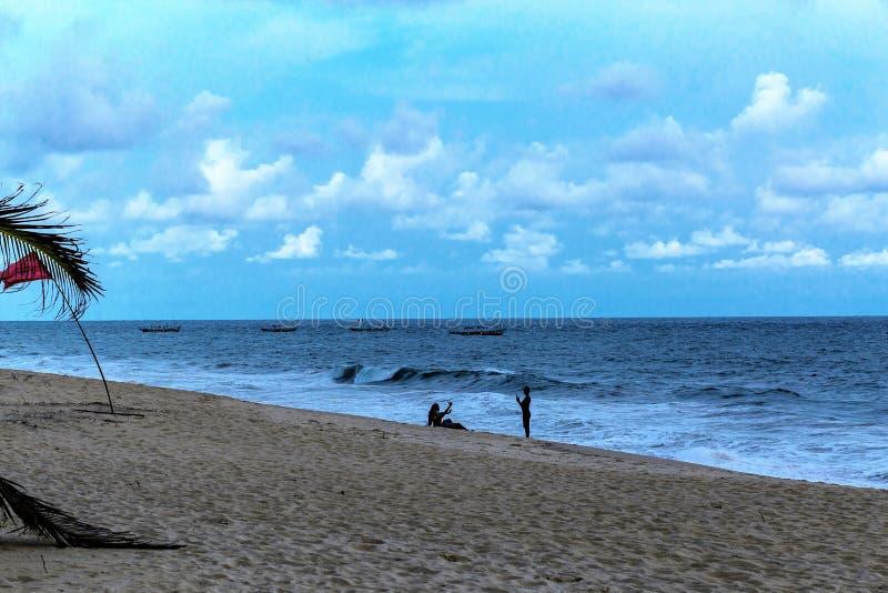 La Campagne-Strandurlaubsort Lekki Lagos Nigeria lizenzfreies stockbild