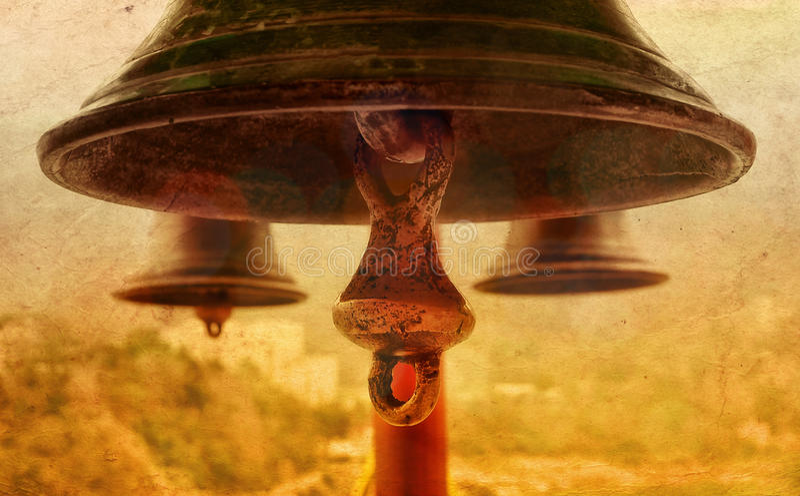 La campana indù sacra fotografia stock libera da diritti