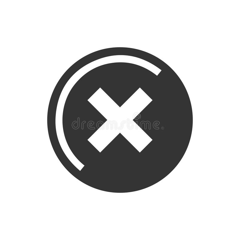 La cancelación, quita el icono libre illustration