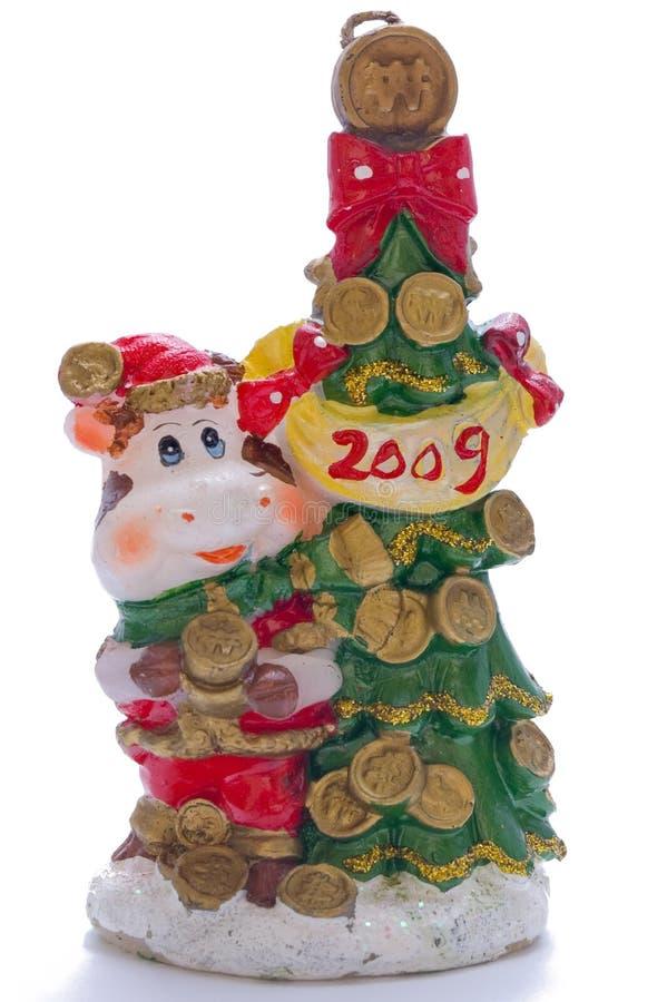 Download La Candela Decorativa Di Natale, Intimorisce Vicino All'pelliccia-albero Fotografia Stock - Immagine di sera, nuovo: 7303028