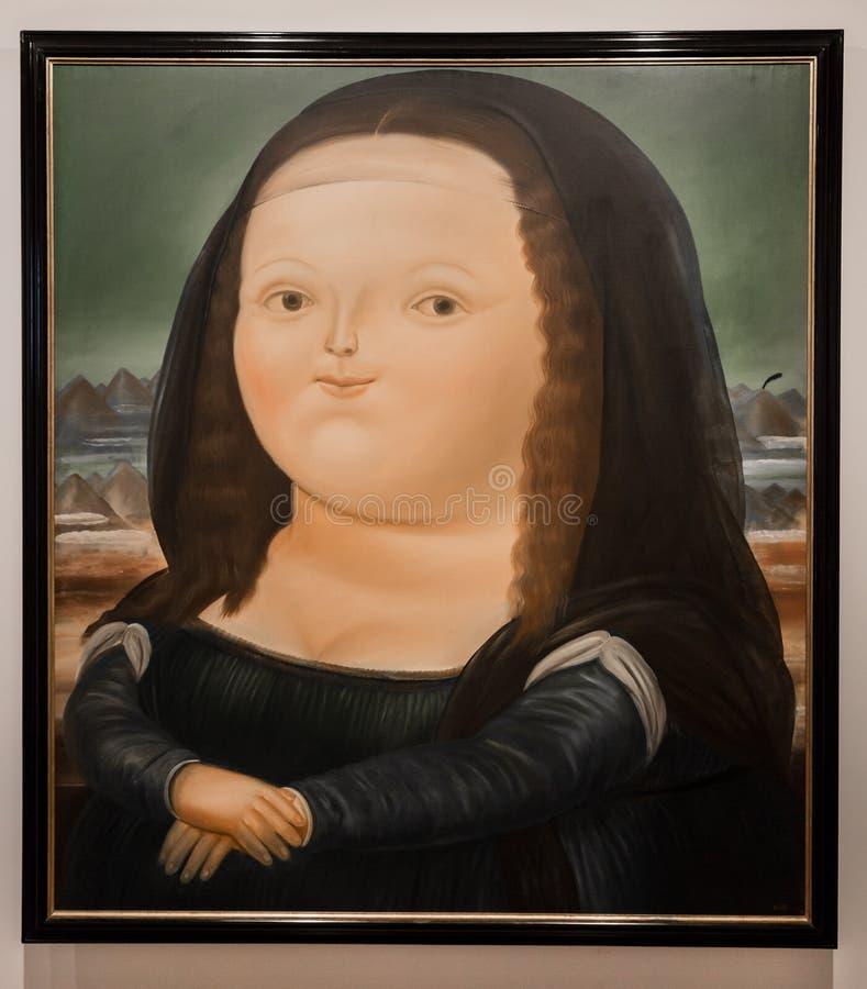 La Candelaria Bogota Colombia de las pinturas del museo de Museo Botero foto de archivo libre de regalías