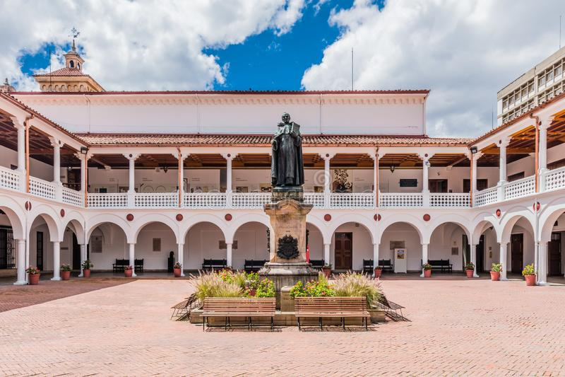 La Candelaria Bogota Colombia do pátio foto de stock