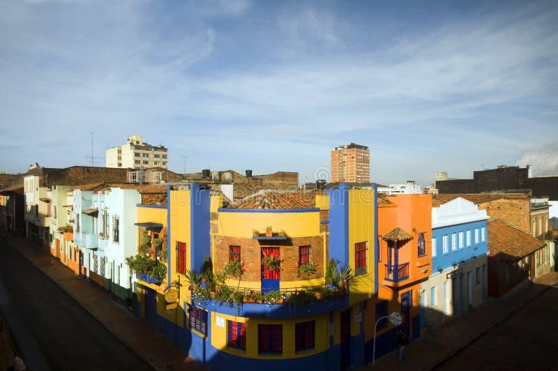 La Candelaria Bogota Colombia van het dak stock foto